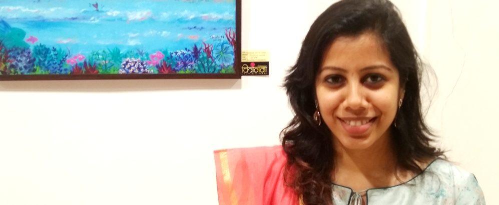 SHWETA MUDDEBIHAL at CHITRANGANA ART EXHIBITION- (5TH -11TH
